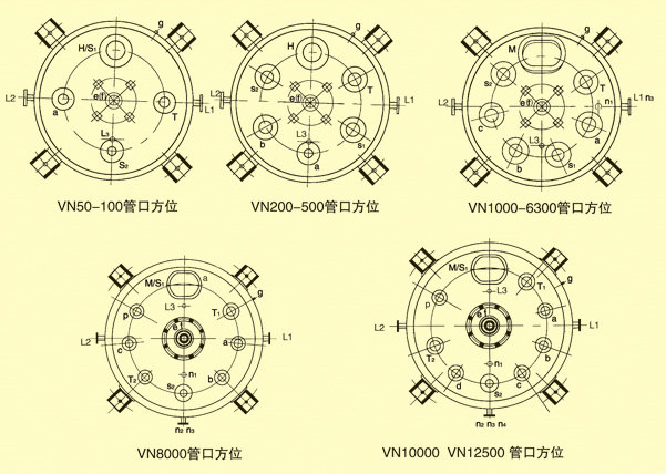 搪瓷反应釜规格图