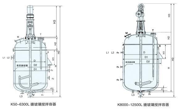 搪瓷反应釜结构图