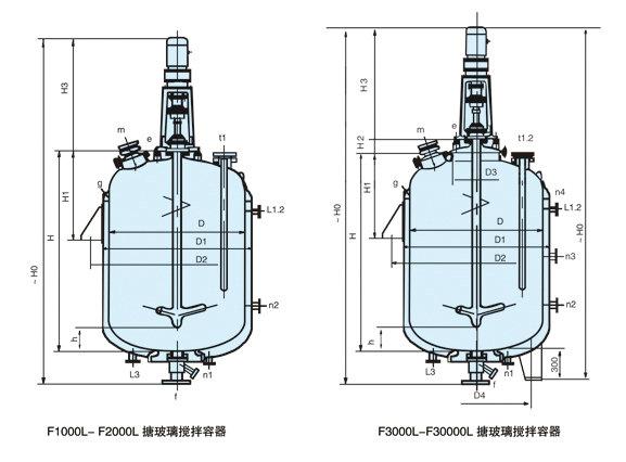 搪玻璃搅拌容器结构图